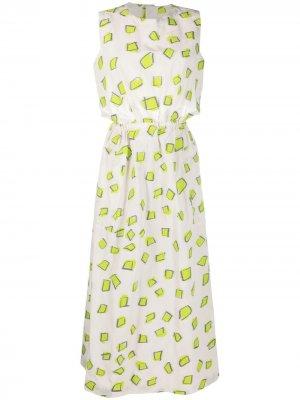 Жаккардовое платье с узором Issey Miyake. Цвет: нейтральные цвета