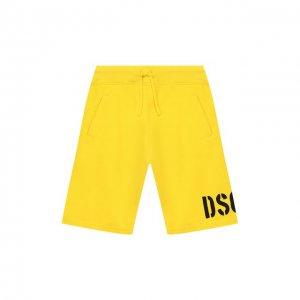 Хлопковые шорты Dsquared2. Цвет: жёлтый
