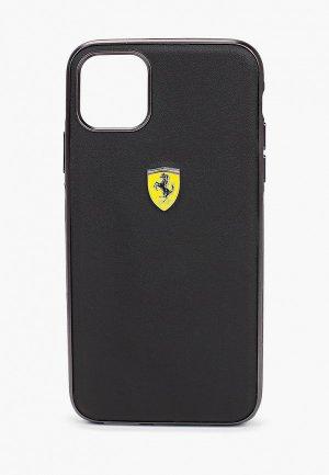 Чехол для iPhone Ferrari 11 Pro Max, On-Track PU Leather Urban Black. Цвет: черный