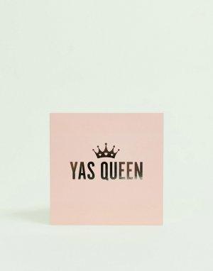 Открытка с надписью yas queen WACTT-Мульти Central 23