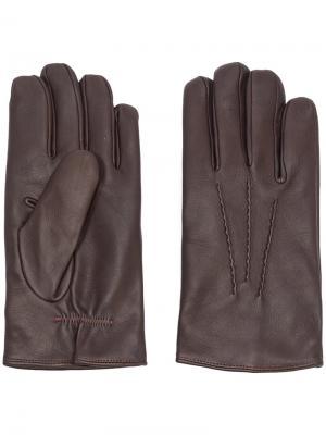Классические перчатки Orciani. Цвет: коричневый