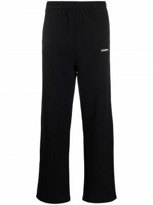Спортивные брюки прямого кроя VETEMENTS. Цвет: черный