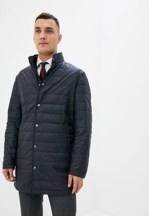 Куртка утепленная Al Franco. Цвет: черный