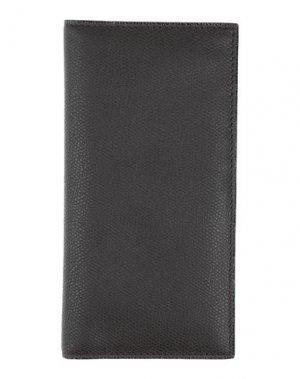 Бумажник VALEXTRA. Цвет: темно-коричневый