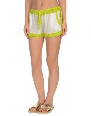 Пляжные брюки и шорты ANNA KOSTUROVA. Цвет: светло-зеленый