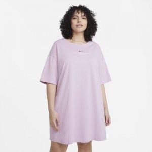 Платье Sportswear Swoosh (большие размеры) - Пурпурный Nike