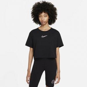 Женская укороченная футболка для танцев Sportswear - Черный Nike