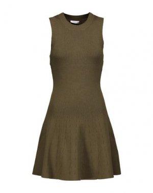 Короткое платье A.L.C.. Цвет: зеленый-милитари