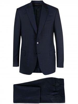 Костюм-двойка с однобортным пиджаком Brioni. Цвет: синий
