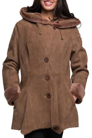 Дублёнка Jean Guise. Цвет: коричневый