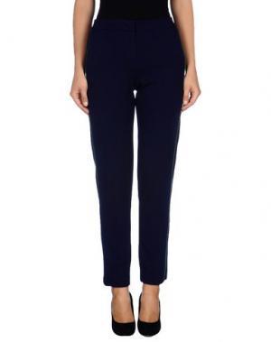 Повседневные брюки HALSTON. Цвет: темно-синий