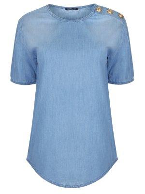 Блуза джинсовая BALMAIN