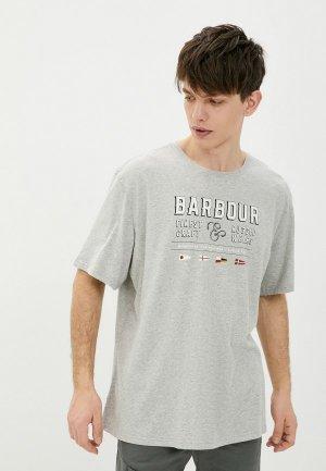 Футболка Barbour. Цвет: серый