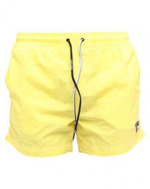 Шорты для плавания BOSS HUGO. Цвет: желтый