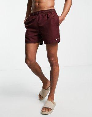 Бордовые волейбольные шорты длиной 5 дюймов Swimming Essential-Красный Nike