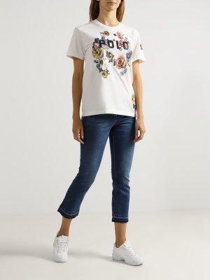 Женская футболка Polo Ralph Lauren. Цвет: belyy