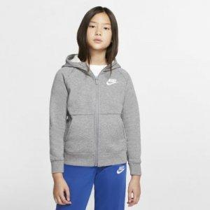 Худи с молнией во всю длину для девочек Sportswear - Серый Nike
