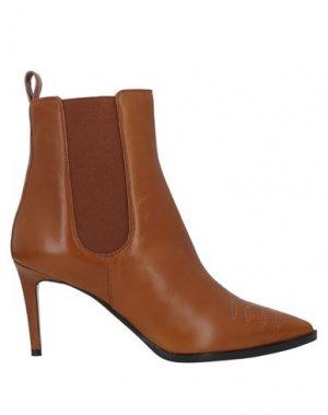 Полусапоги и высокие ботинки ANTONIO BARBATO. Цвет: желто-коричневый