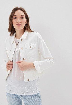 Куртка джинсовая Baon. Цвет: белый