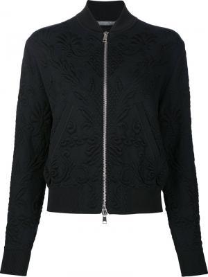 Quilted bomber jacket Alexander McQueen. Цвет: чёрный