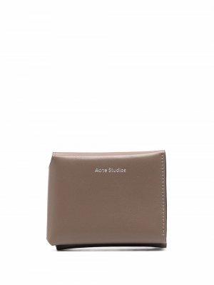 Бумажник с логотипом Acne Studios. Цвет: серый