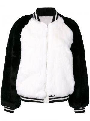 Куртка бомбер Liska. Цвет: черный