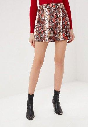 Куртка кожаная Softy. Цвет: красный