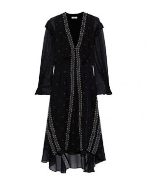 Платье миди JOIE. Цвет: черный