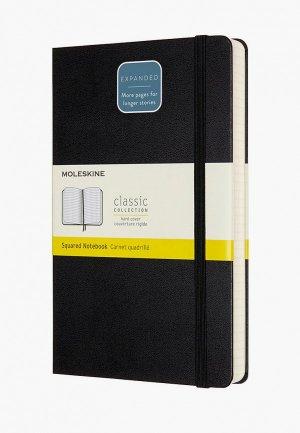 Блокнот Moleskine CLASSIC EXPENDED Large 130х210мм 400 стр.. Цвет: черный