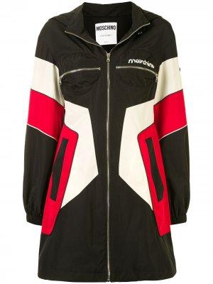 Платье-куртка в спортивном стиле Moschino. Цвет: черный