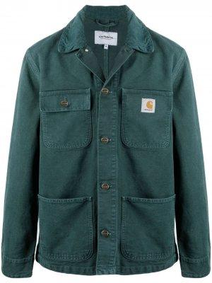 Джинсовая куртка с нашивкой-логотипом Carhartt WIP. Цвет: зеленый