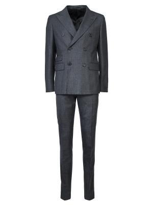 Классический костюм PRADA. Цвет: серый
