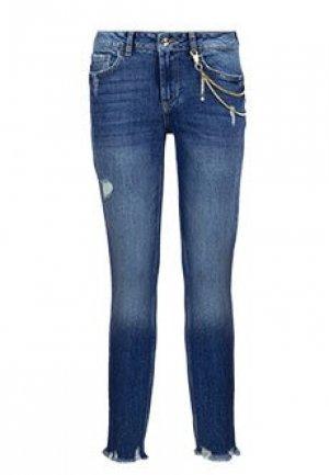 Зауженные джинсы LIU JO. Цвет: синий
