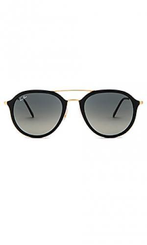 Солнцезащитные очки double bridge aviator Ray-Ban. Цвет: черный