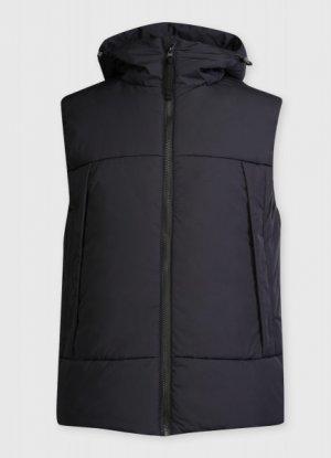 Утеплённный жилет c капюшоном O`Stin. Цвет: черно-синий