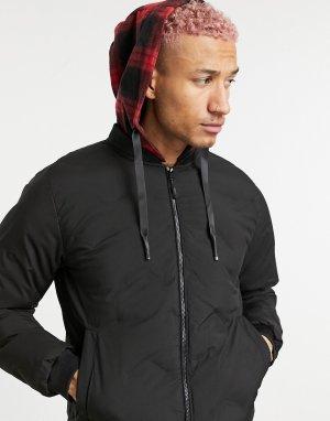 Черная утепленная куртка для стадиона -Черный цвет Criminal Damage