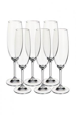 Бокал для шампанского, 6 шт BOHEMIA CRYSTAL. Цвет: белый