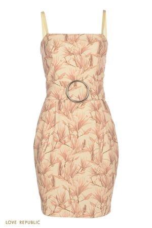 Платье-бандо с цветочным принтом LOVE REPUBLIC