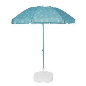 Зонт от солнца, FOLD LA REDOUTE INTERIEURS. Цвет: в полоску зеленый,в полоску оранжевый,желтый,зеленый,оранжевый,синий