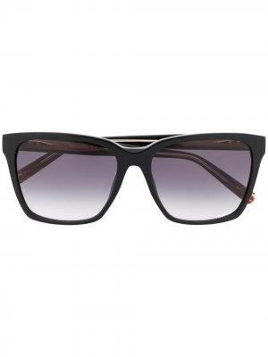 Солнцезащитные очки в квадратной оправе Missoni. Цвет: черный