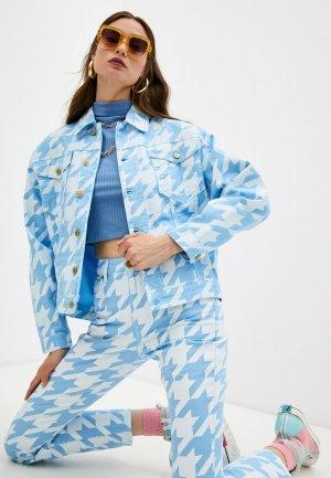 Куртка джинсовая Chiara Ferragni Collection. Цвет: голубой