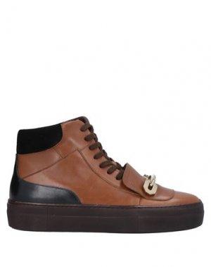 Высокие кеды и кроссовки MAGLI by BRUNO. Цвет: желто-коричневый