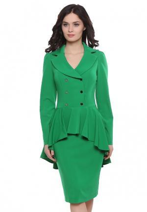 Платье Grey Cat NESSY. Цвет: зеленый