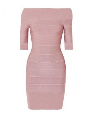 Короткое платье HERVÉ L. LEROUX. Цвет: телесный
