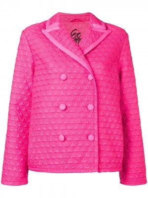 Укороченная стеганая куртка Ermanno Scervino. Цвет: розовый