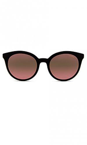 Солнцезащитные очки heritage round Prada. Цвет: black,pink