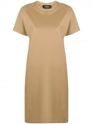 Платье тонкой вязки с короткими рукавами Dsquared2. Цвет: нейтральные цвета