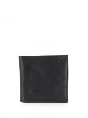 Бумажник с тисненым логотипом Ann Demeulemeester. Цвет: черный