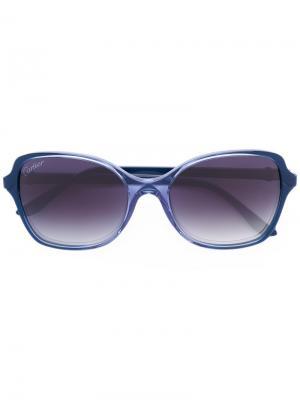 Крупные солнцезащитные очки Cartier. Цвет: синий