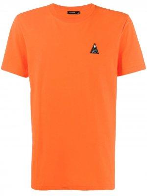 Футболка Bridge с вышитым логотипом J.Lindeberg. Цвет: оранжевый